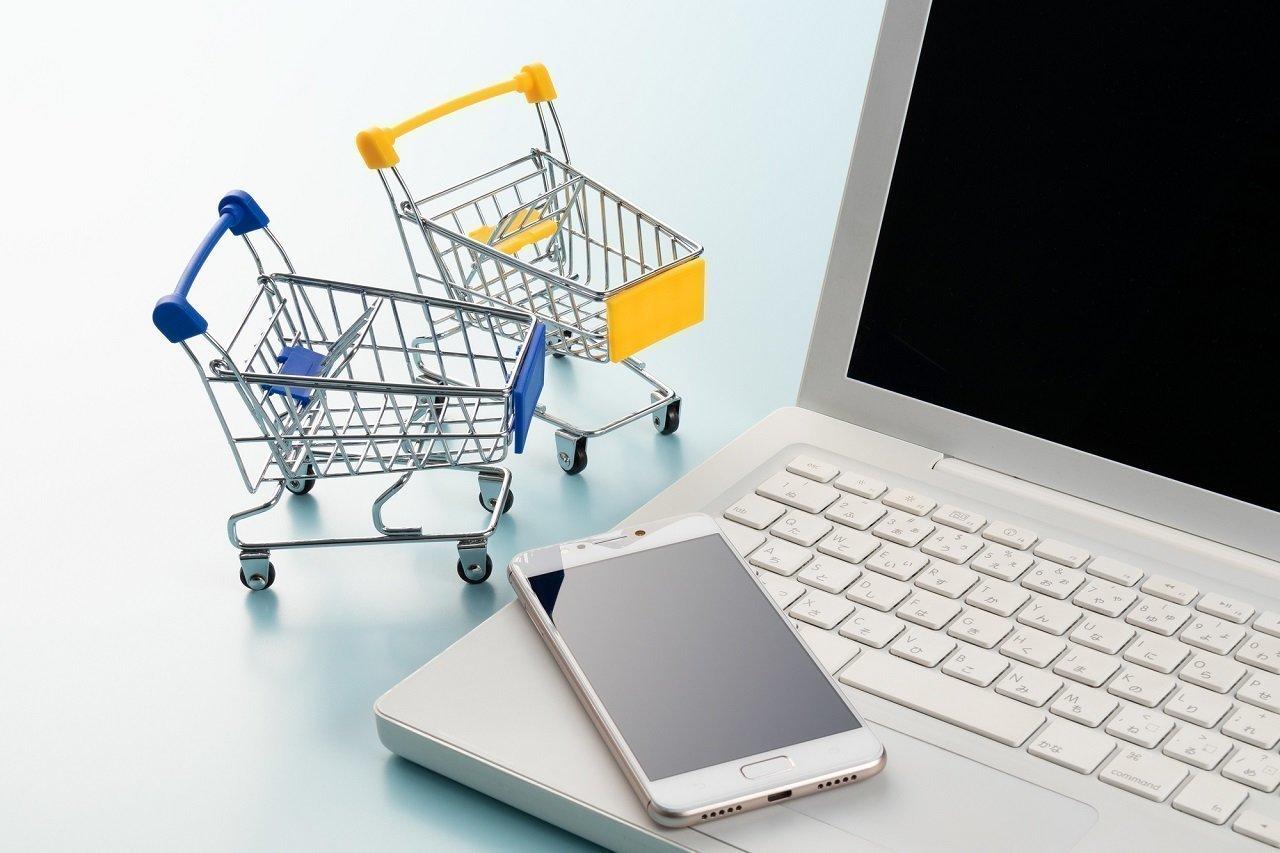 オンラインショッピングの写真