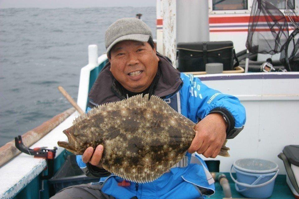 釣り ヒラメ 人 写真