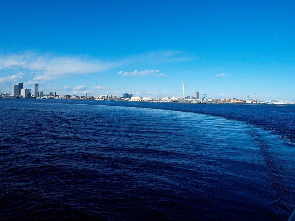 潮目 横浜港 写真