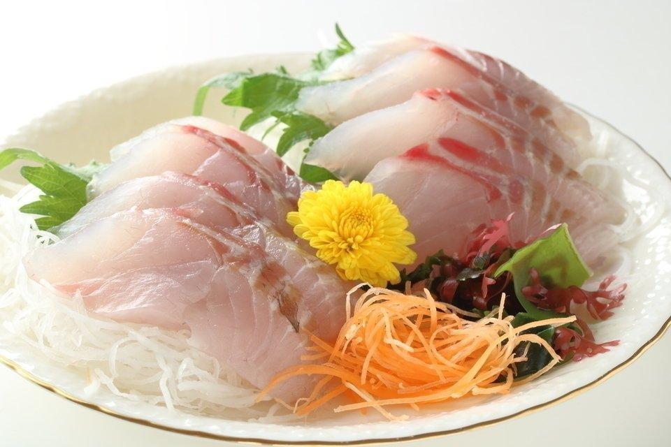 スズキ 魚 刺し身 写真