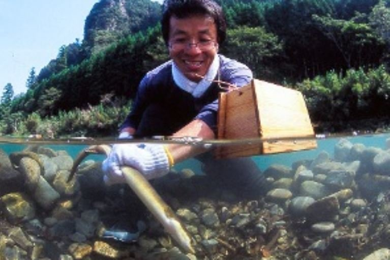 ウナギ 漁 写真