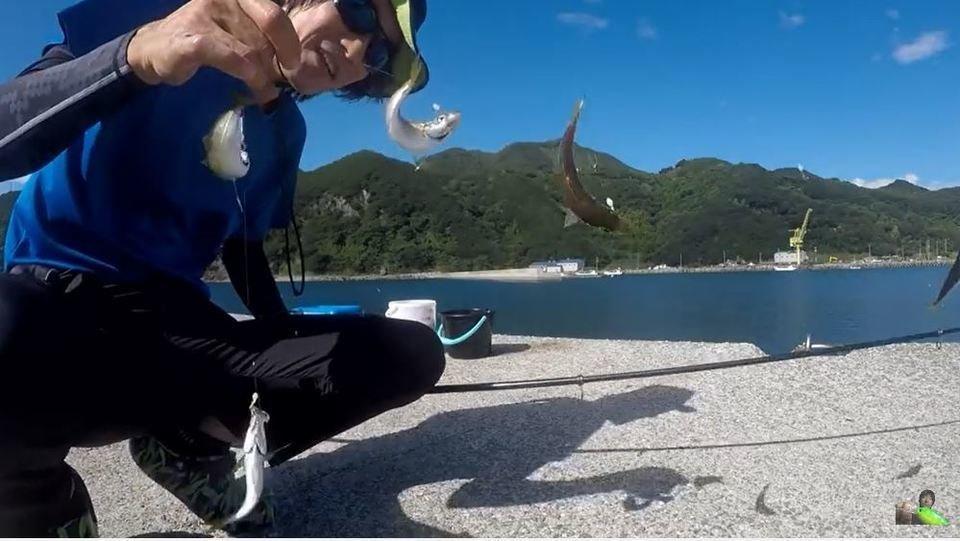 サビキ釣り 釣り人 写真