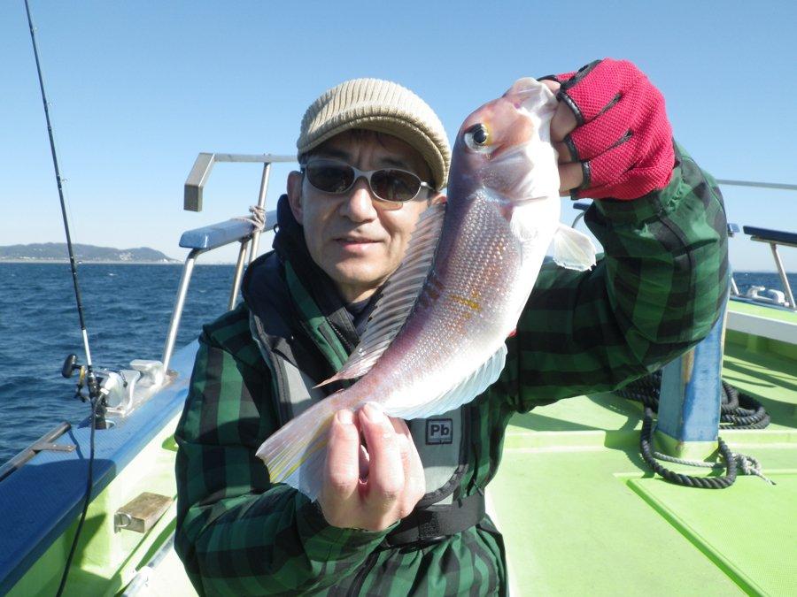 アマダイ 釣り人 写真