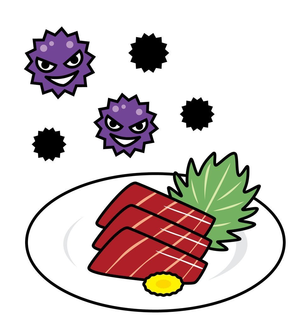 刺身 食中毒 イラスト