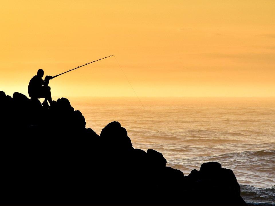 釣り人 海 写真