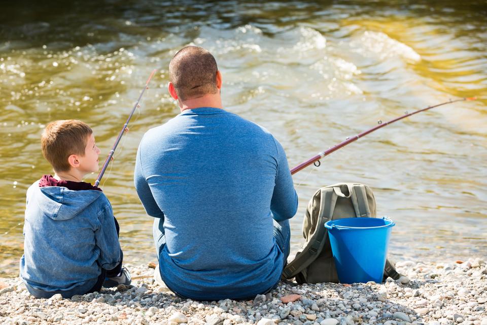 釣り 父 息子