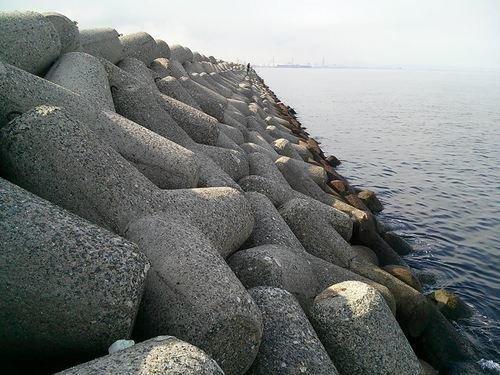 南港 テトラポット 海 写真