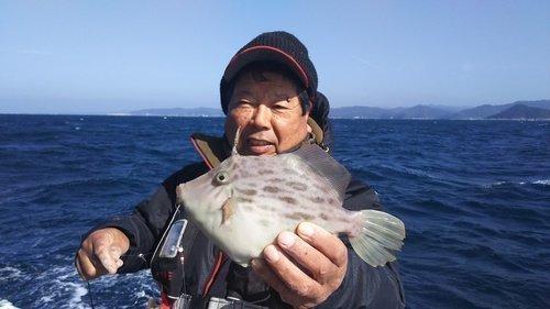カワハギ 釣り人 男性 海 写真