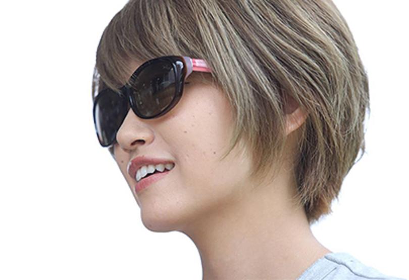 TLX006は女性にぴったりのスモールサイズ偏光グラス!秋丸美帆さんも愛用