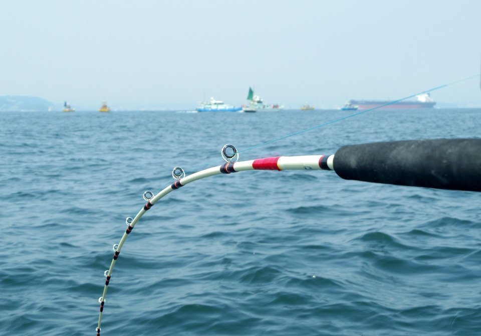 アジング ロッド 海 写真
