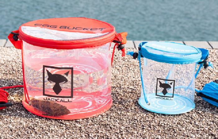 エッグバケットは2019年新発売の折りたたみ式釣り用バケツ!透明で中身丸見え