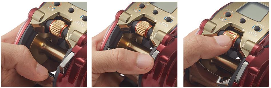 親指1本で調整可能なジョグダイヤル