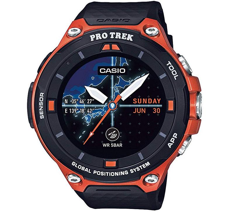 釣り用腕時計のアップ写真