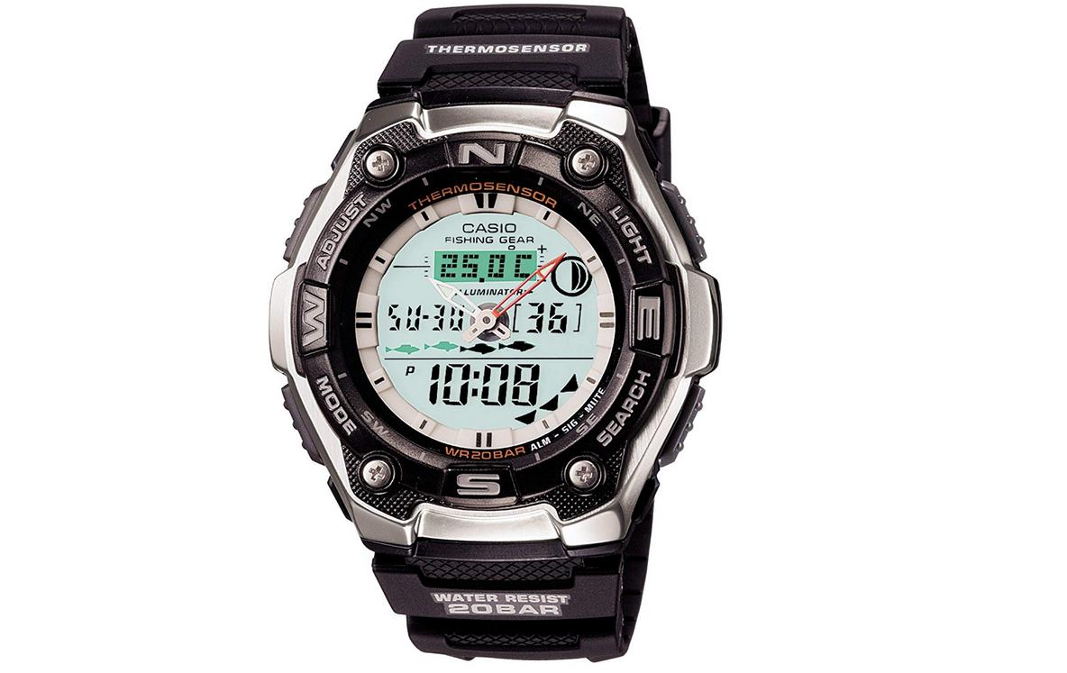 釣りで使える腕時計のアップ写真