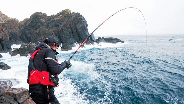 磯釣りのアップ写真