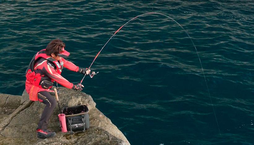 釣り人のアップ写真
