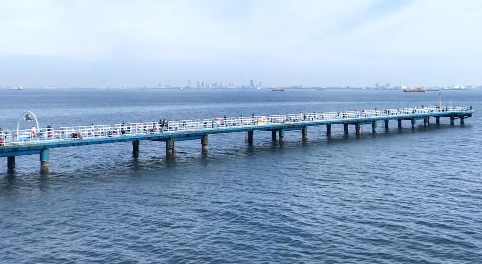 釣り場の遠景写真
