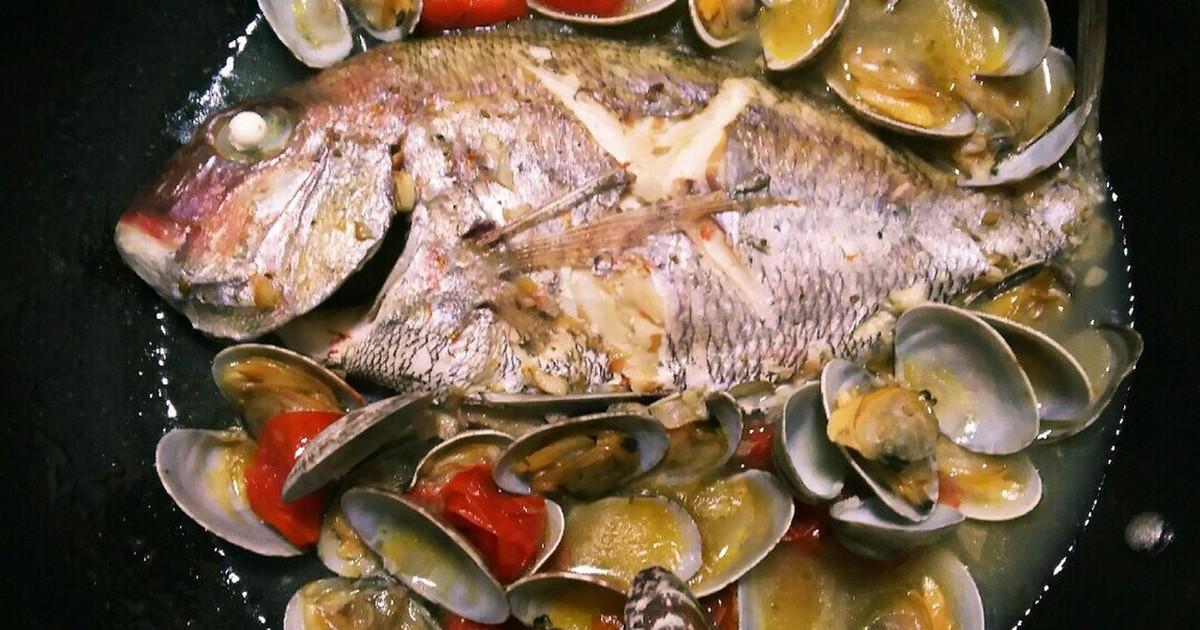 フライパンで1つで!真鯛のアクアパッツァ by ガボちゃん